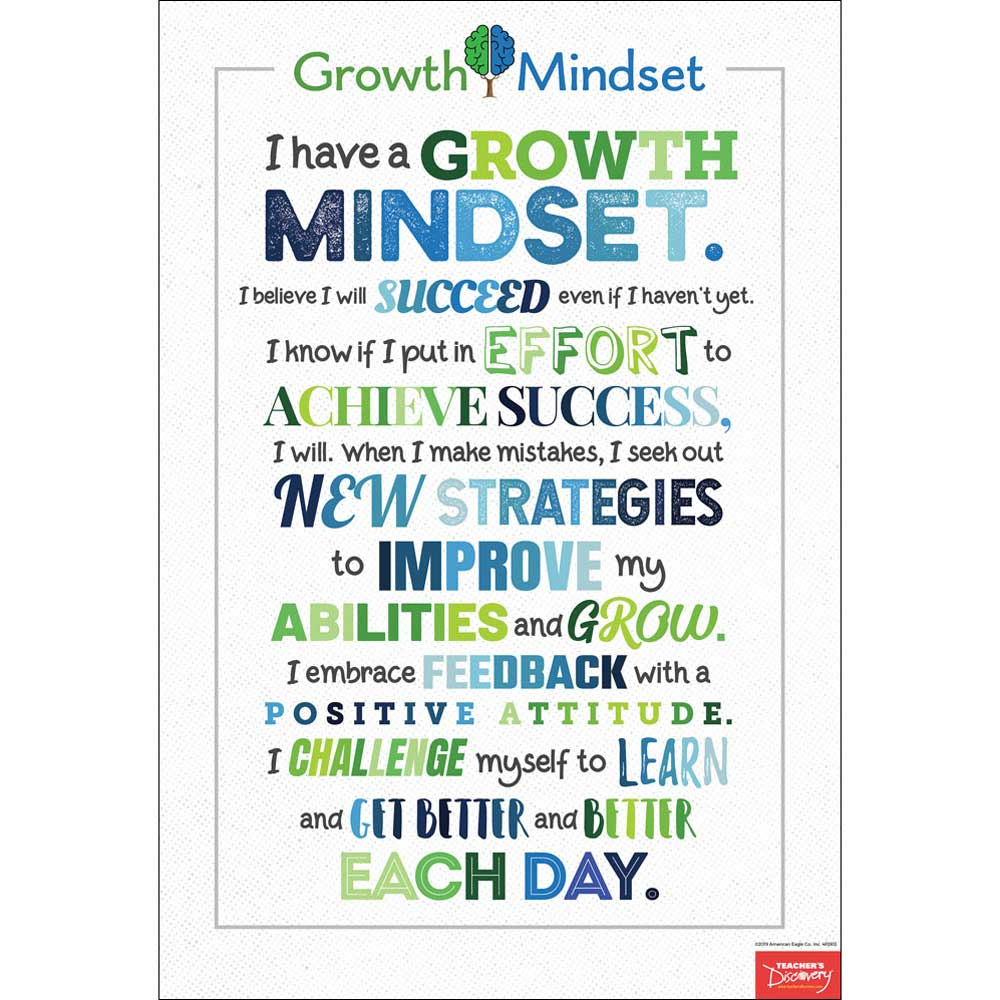 I Have a Growth Mindset Mini-Poster
