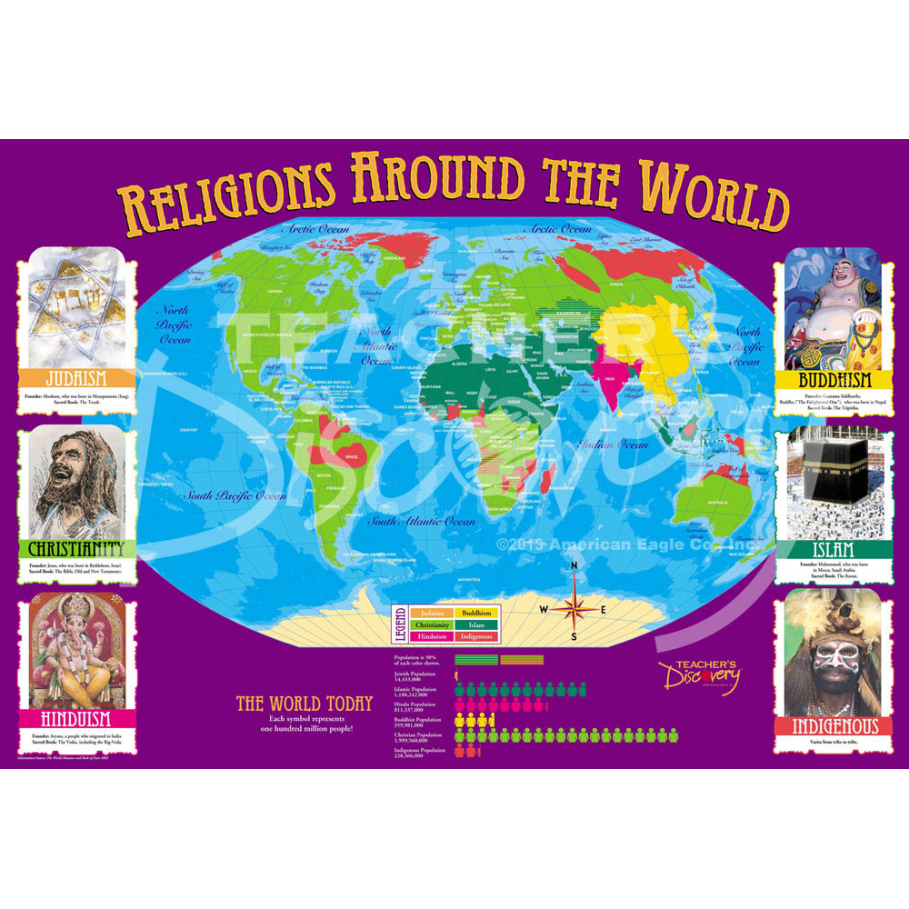 World Religions Distribution Map
