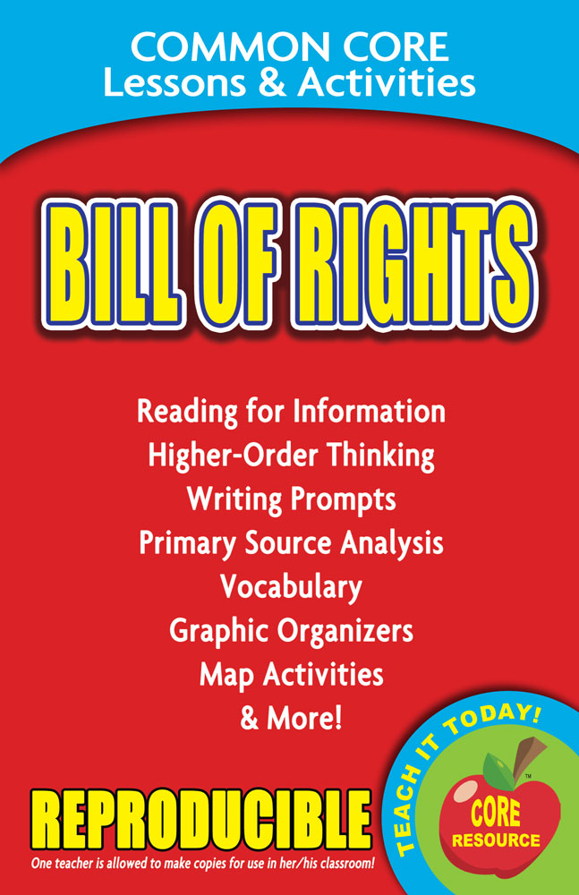 Common Core Lessons & Activities: Bill of Rights Book