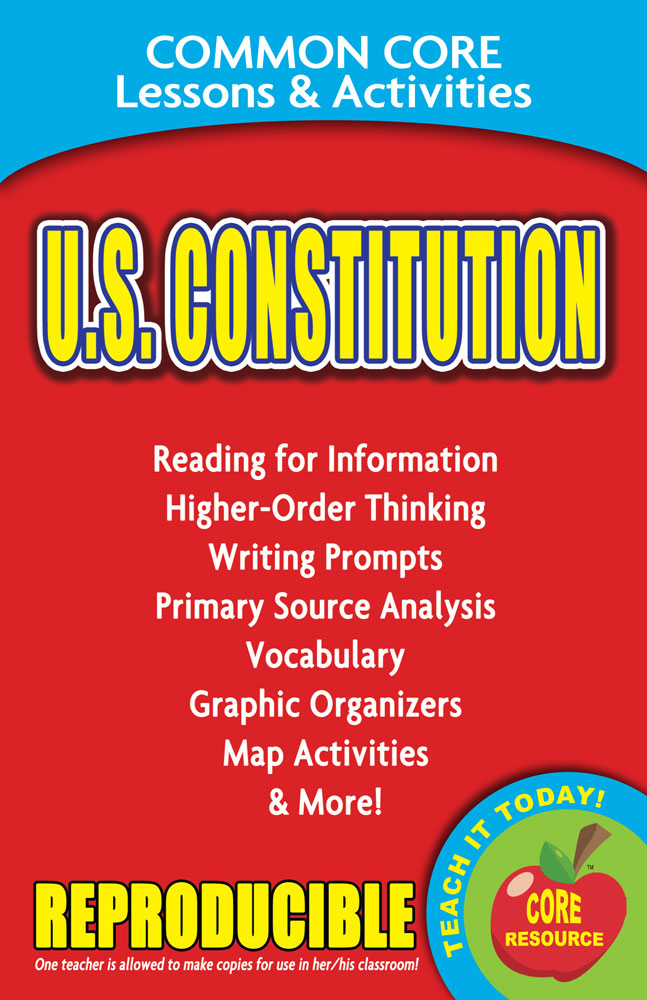 Common Core Lessons & Activities: U.S. Constitution Book