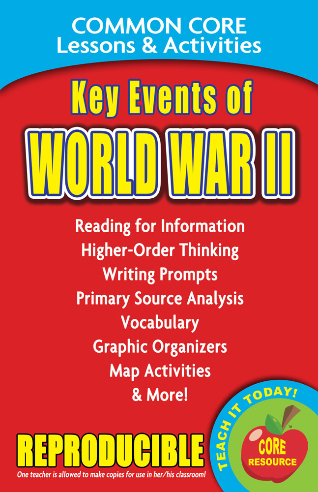 Common Core Lessons & Activities: Key Events of World War II Book