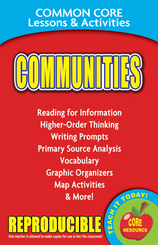 Common Core Lessons & Activities: Communities Book