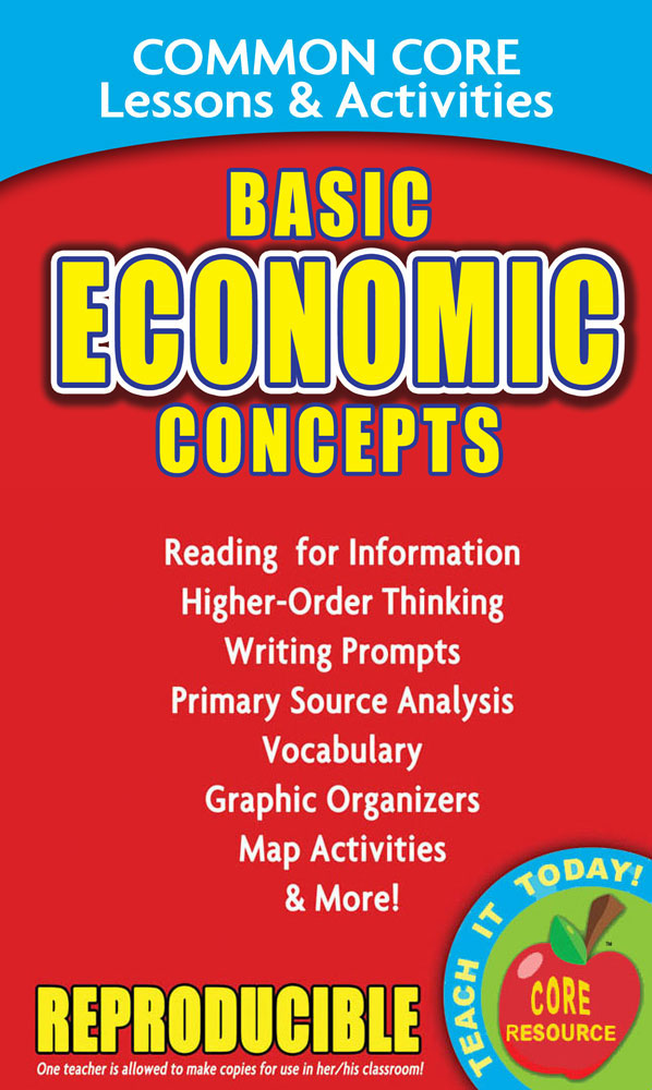 Common Core Lessons & Activities: Basic Economic Concepts Book