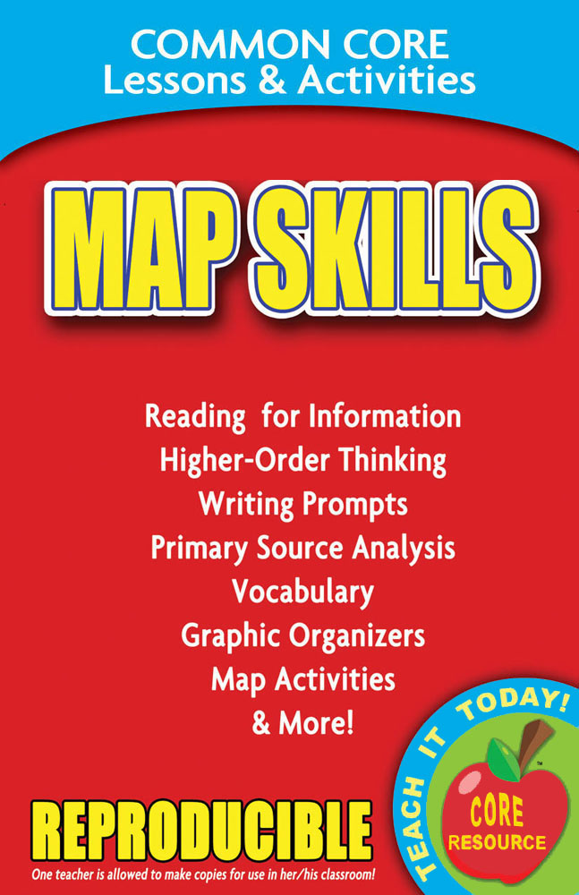 Common Core Lessons & Activities: Map Skills Book