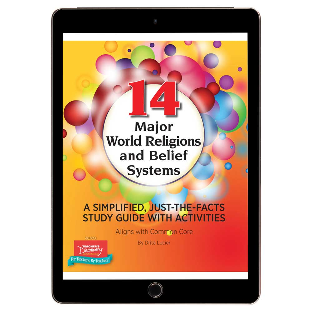 14 Major World Religions & Belief Systems Book