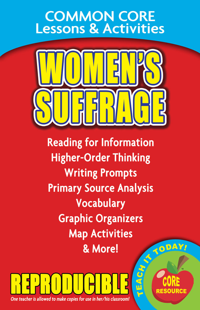 Common Core Lessons & Activities: Women's Suffrage Book