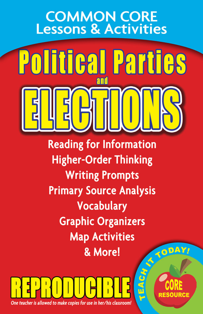 Common Core Lessons & Activities: Political Parties and Elections Book