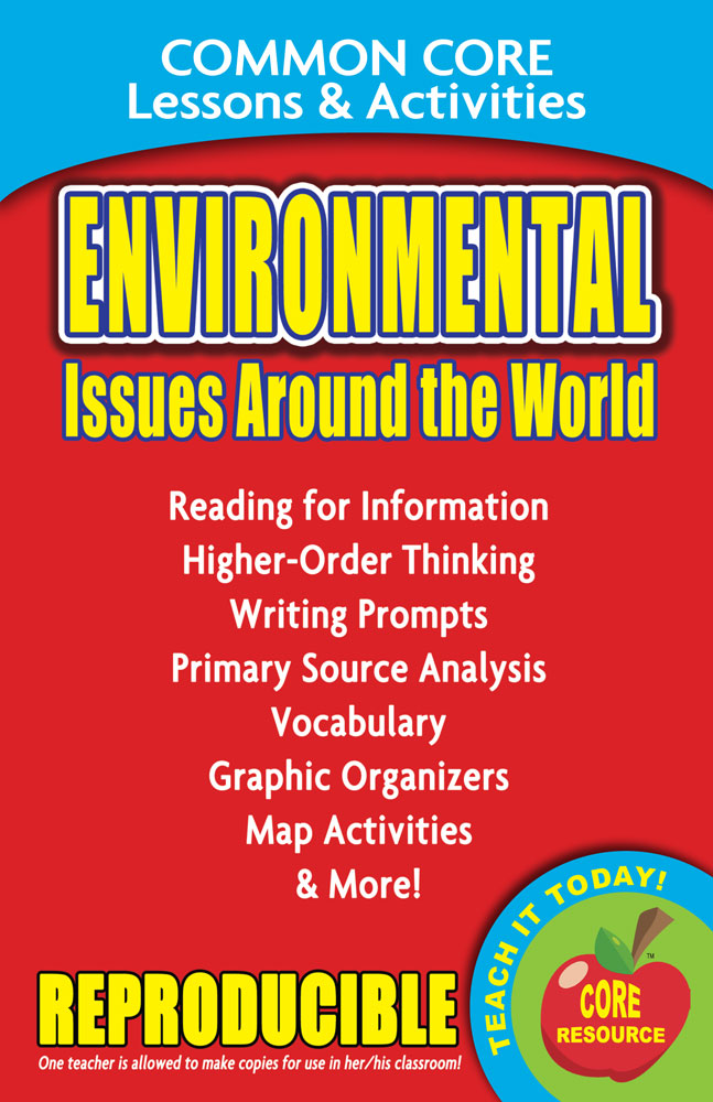 Common Core Lessons & Activities: Environmental Issues Around the World Book