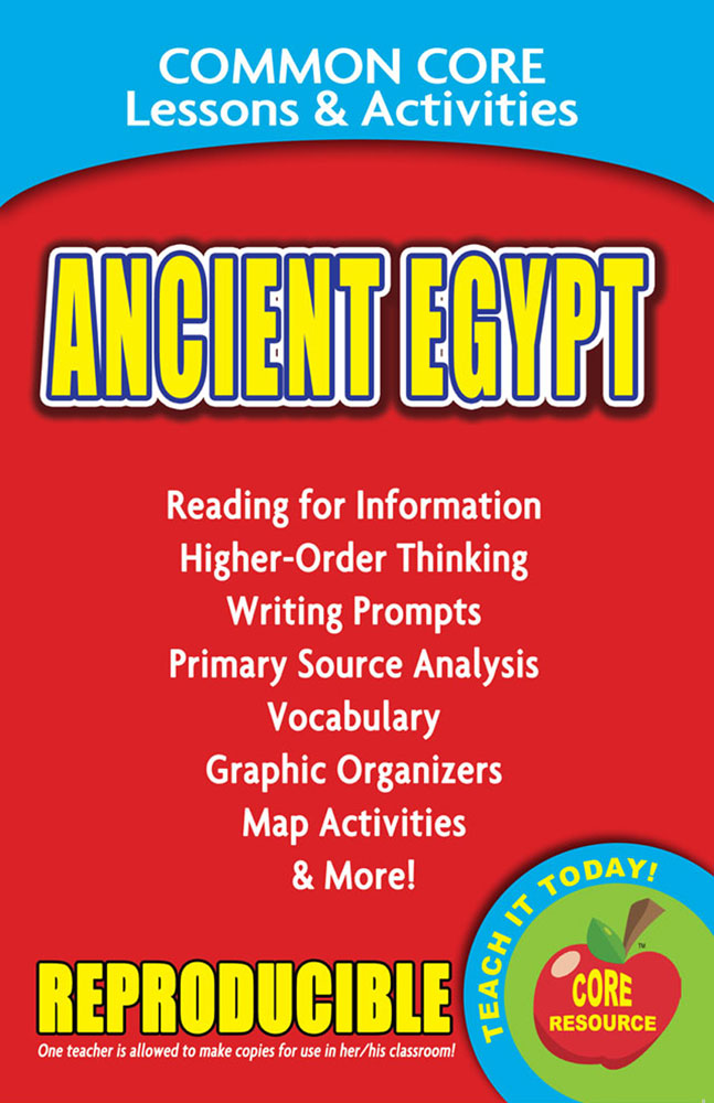 Common Core Lessons & Activities: Ancient Egypt Book
