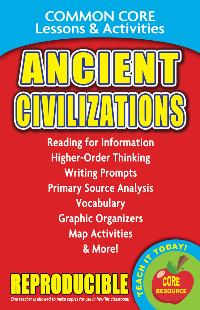 Common Core Lessons & Activities: Ancient Civilizations Book