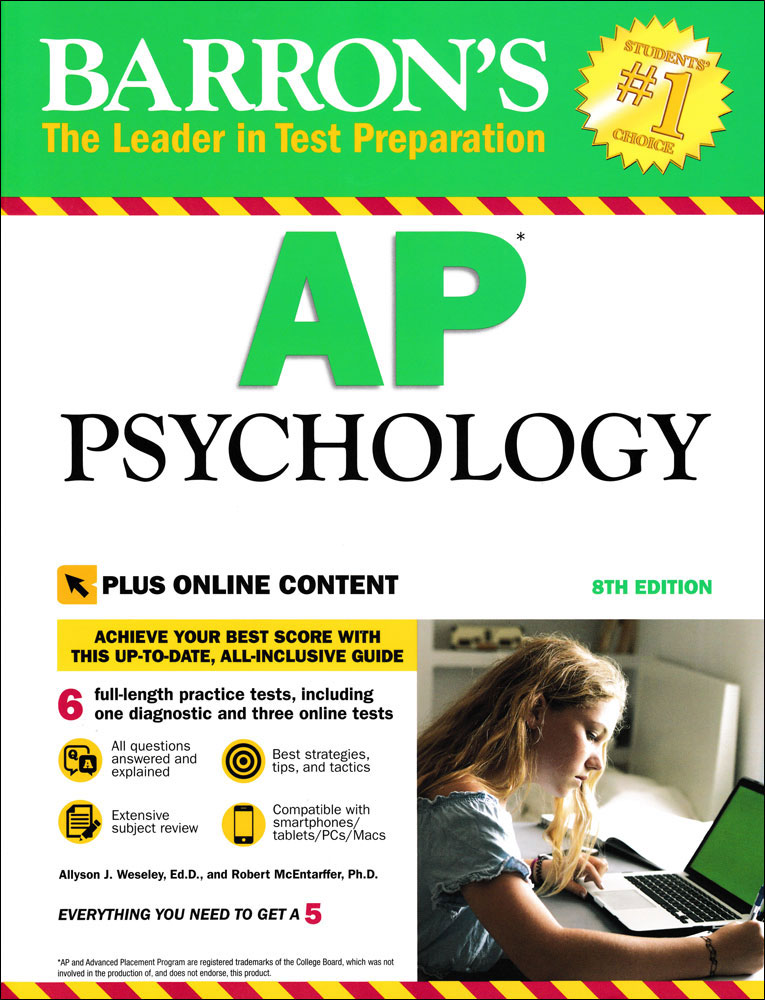 Barron's AP Psychology (Eighth Edition) Book