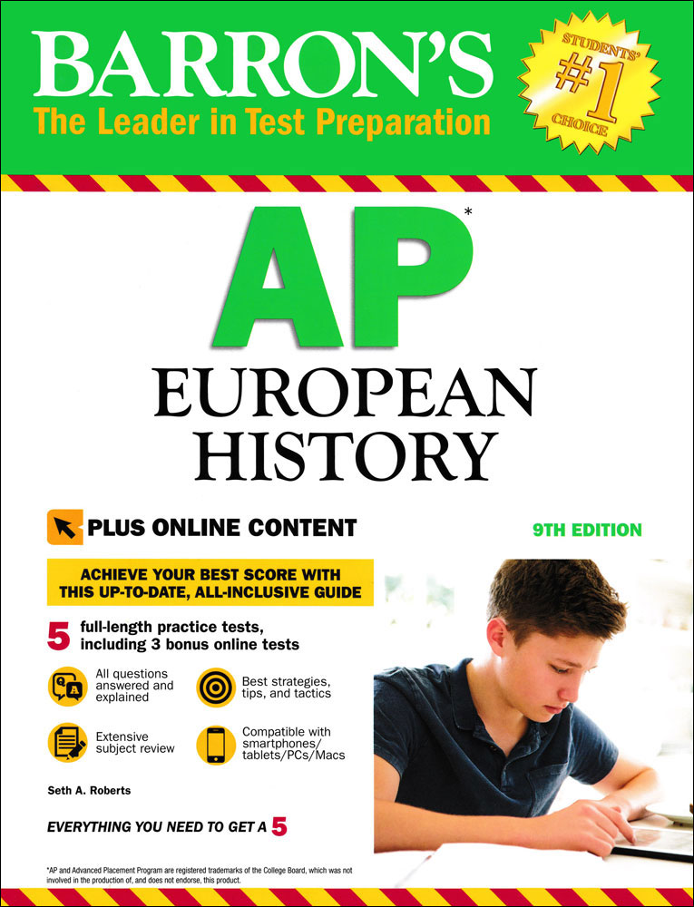 Barron's AP European History (Ninth Edition) Book