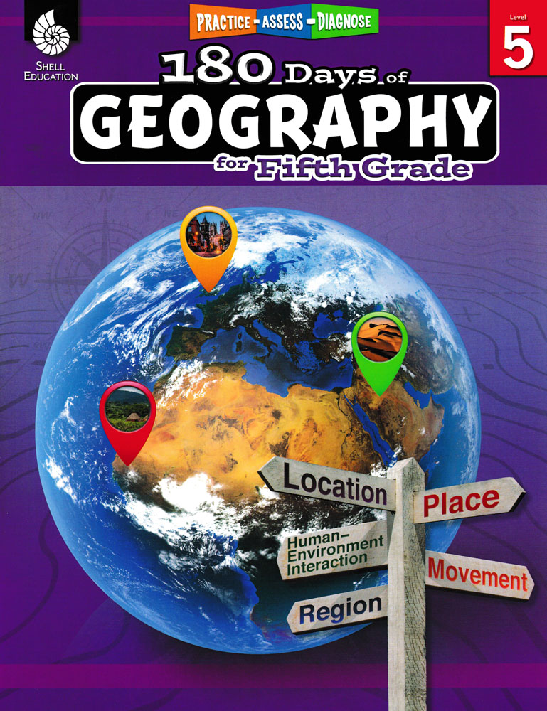 180 Days of Geography for Fifth Grade Book