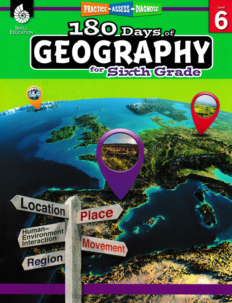 180 Days of Geography for Sixth Grade Book