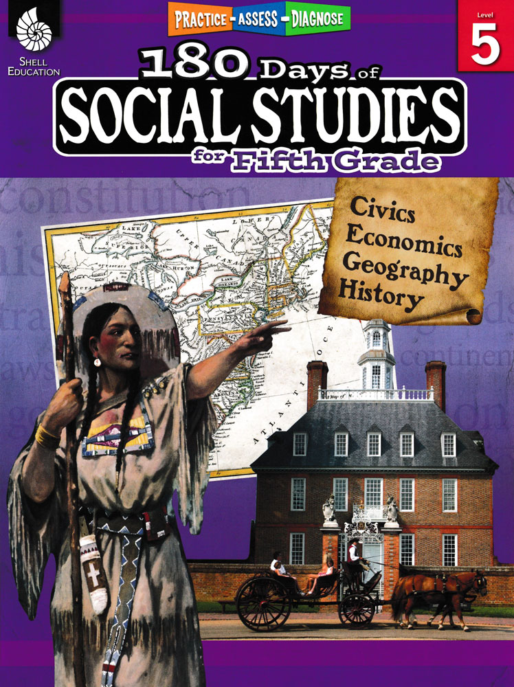 180 Days of Social Studies for Fifth Grade Book