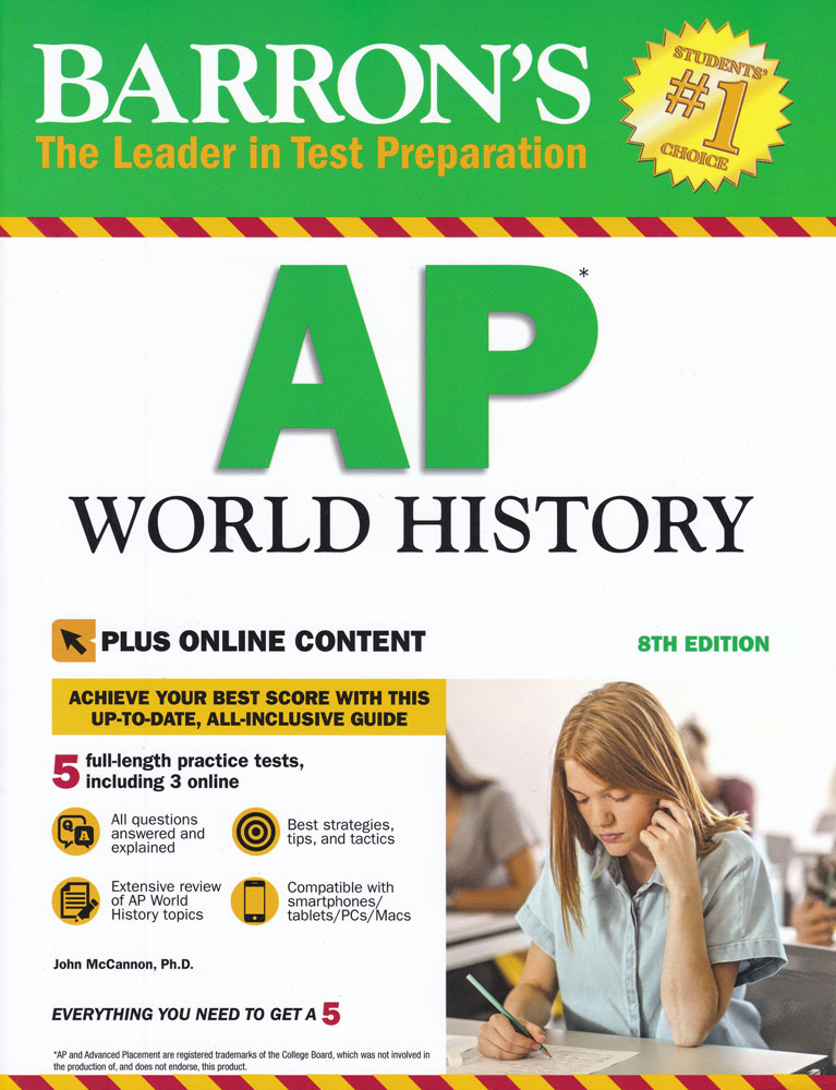 Barron's AP World History (Eighth Edition) Book