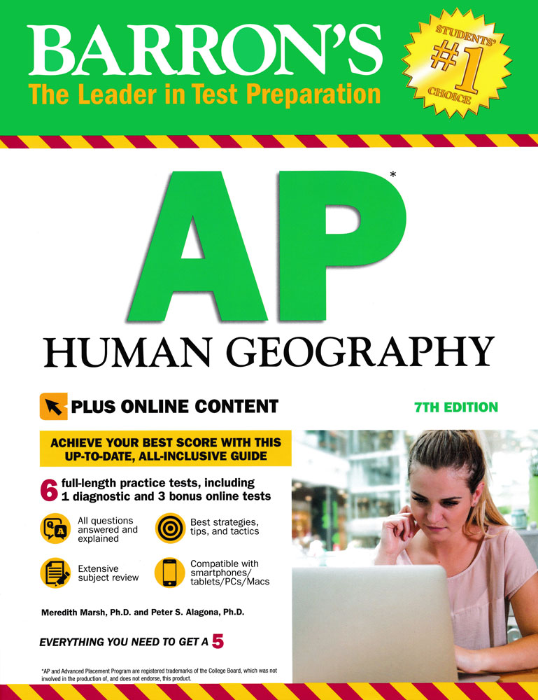 Barron's AP Human Geography (Seventh Edition) Book
