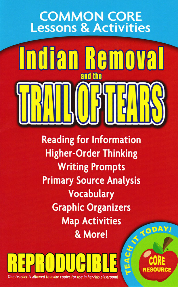 Common Core Lessons & Activities: Indian Removal and the Trail of Tears Book