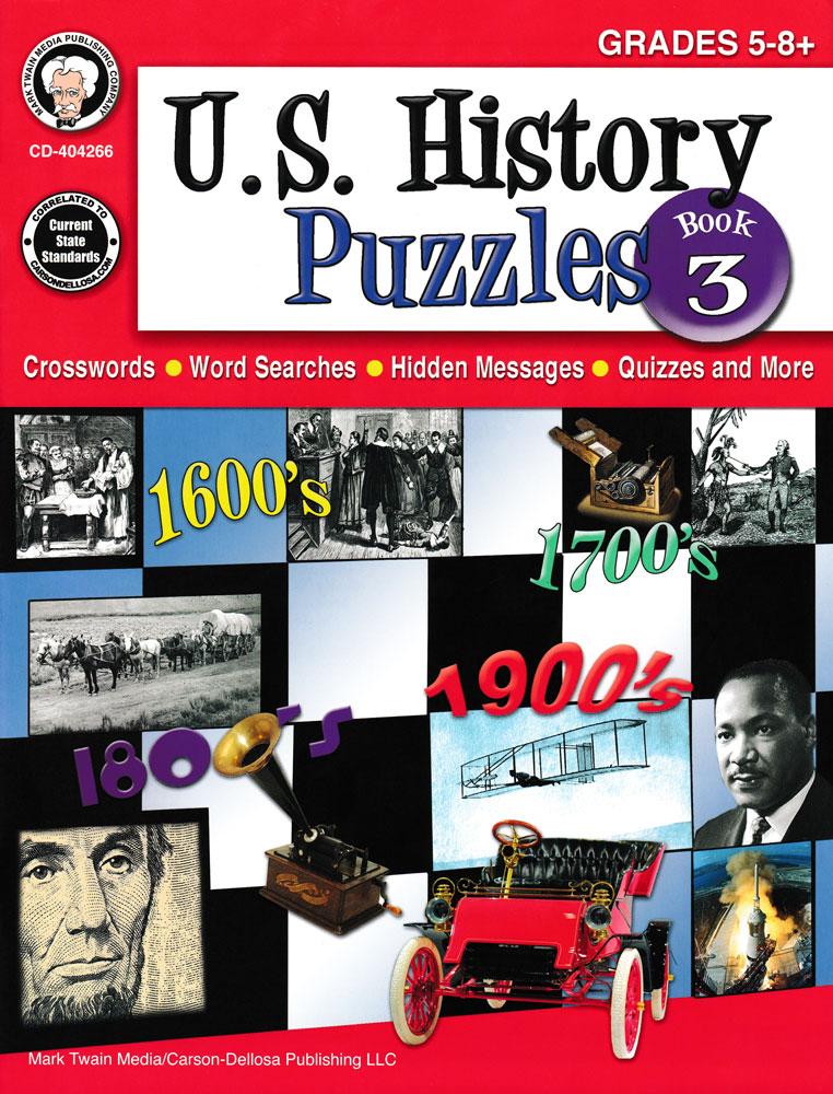 U.S. History Puzzles Book 3
