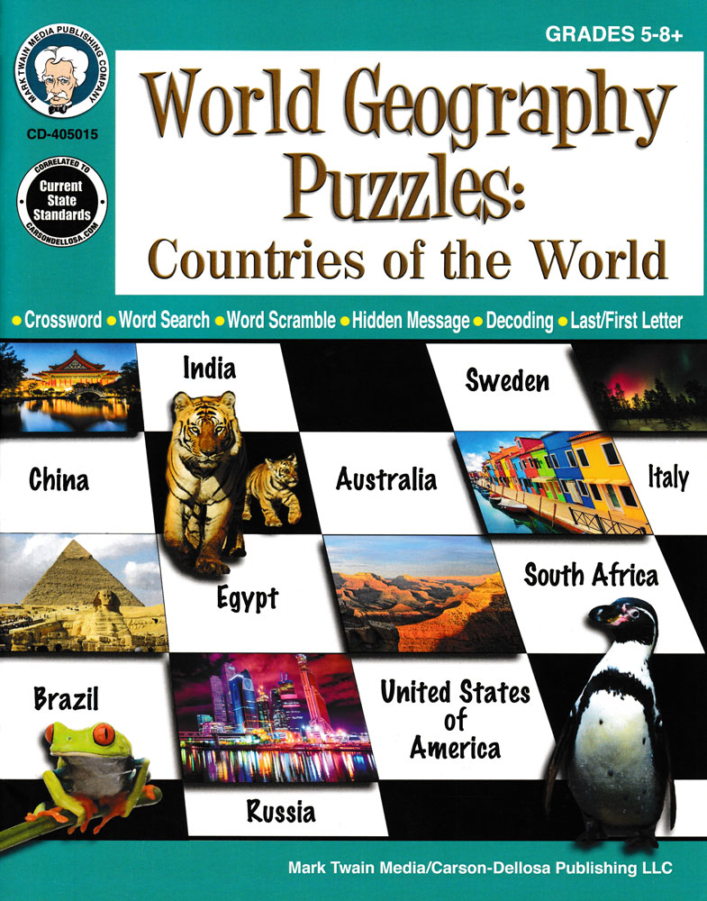 World Geography Puzzles Countries of the World Book