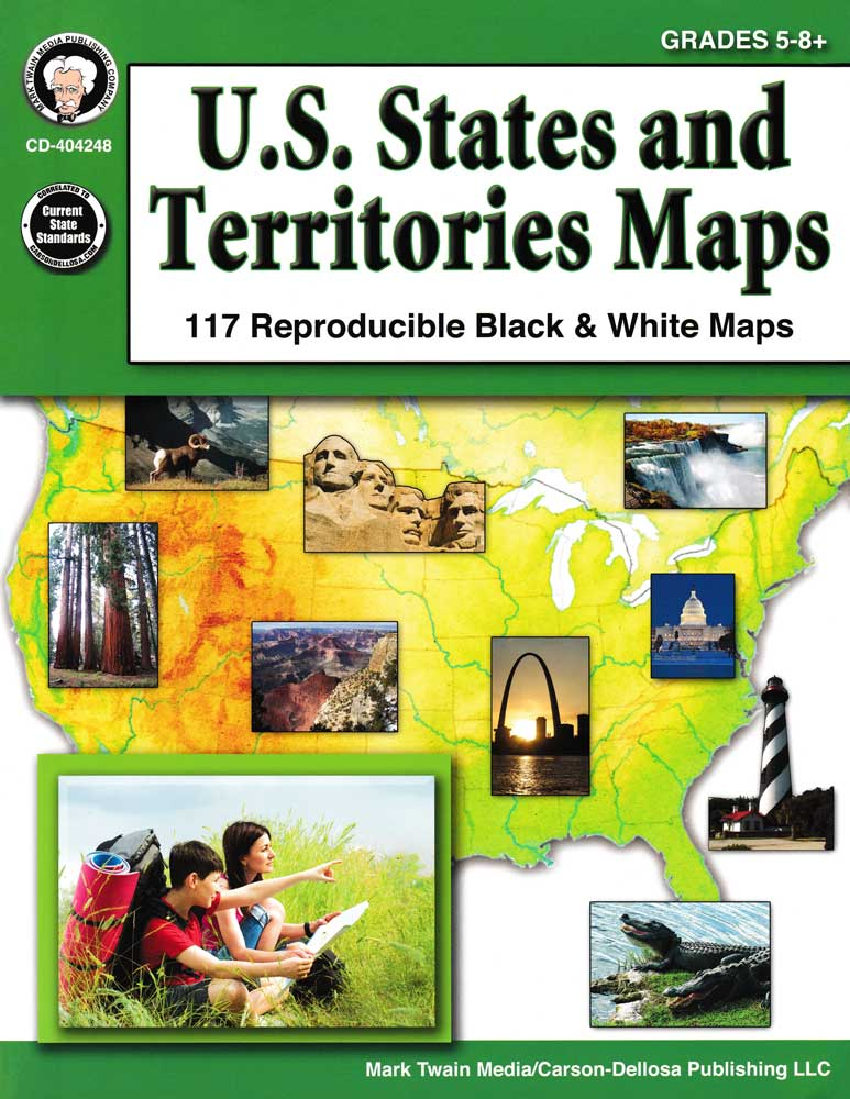 U.S. States and Territories Map Book