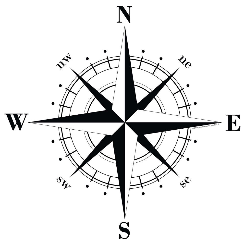 Compass Rose Vinyl Decal
