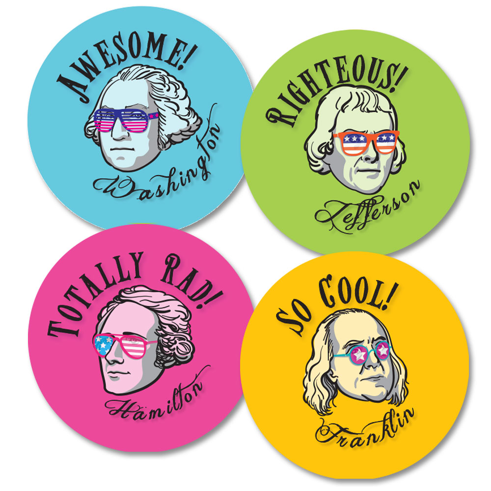 Founding Fathers Stickers