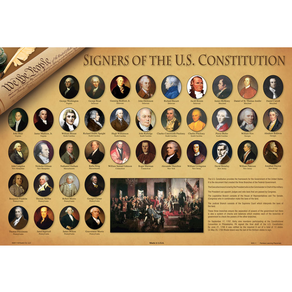 Dry-Erase Constitution Desk Placemat