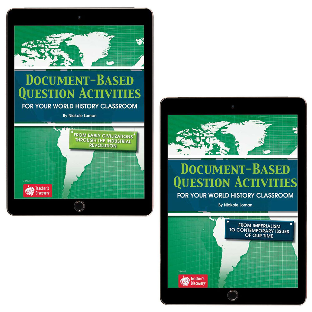 Document-Based Question Activities: World History Set of 2 Books   - Document-Based Question Activities: World History Set of 2 Print Books