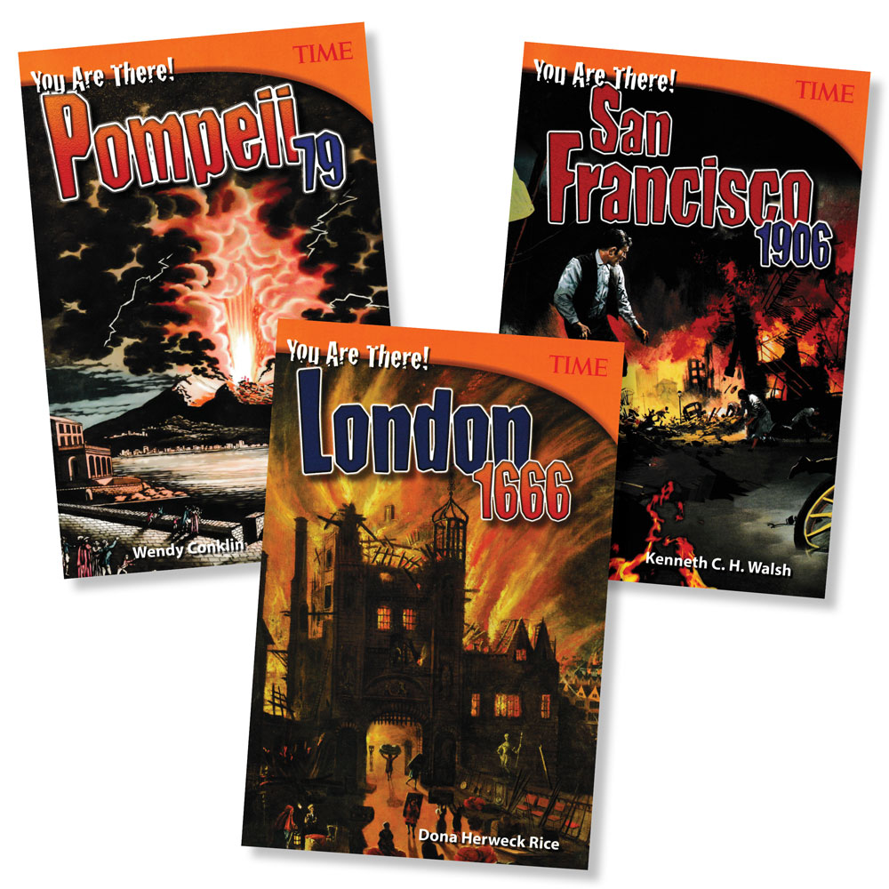 You Are There! Set of 3 Disasters Books (880L–1000L)