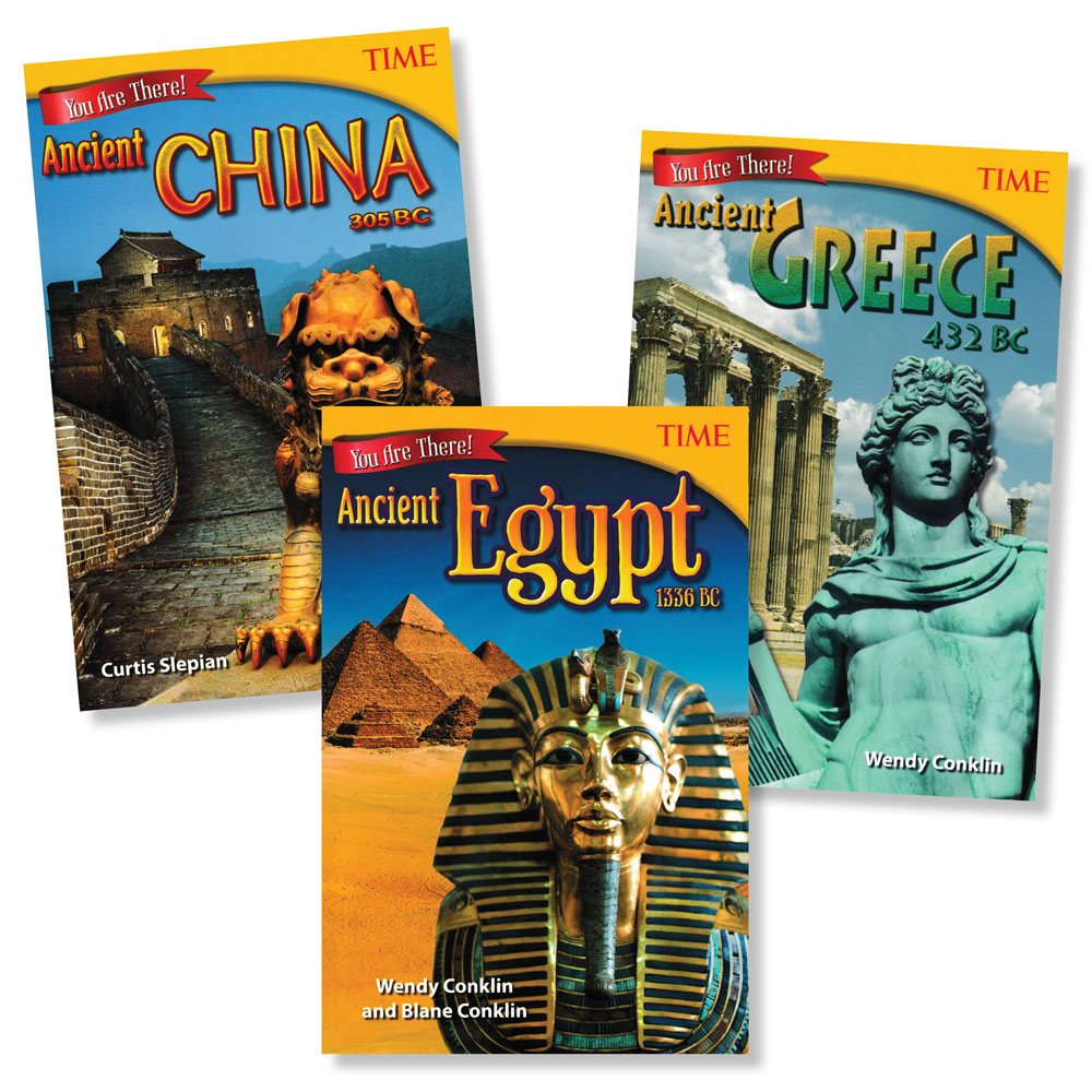 You Are There! Set of 3 Ancient History Books (860L–920L)