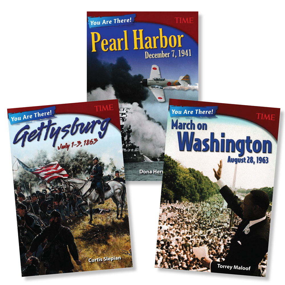 You Are There! Set of 3 U.S. History Books (990L–1080L)