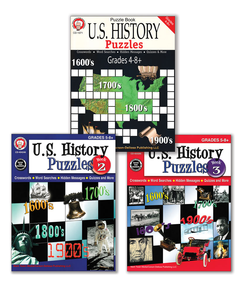 U.S. History Puzzles Books Set of 3