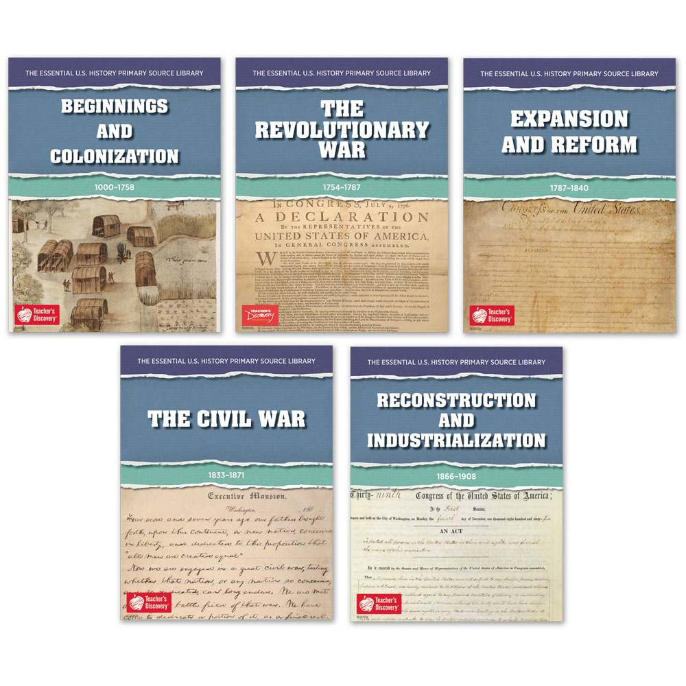 The Essential U.S. History Primary Source Library: Beginnings Through Industrialization Set of 5 Downloads