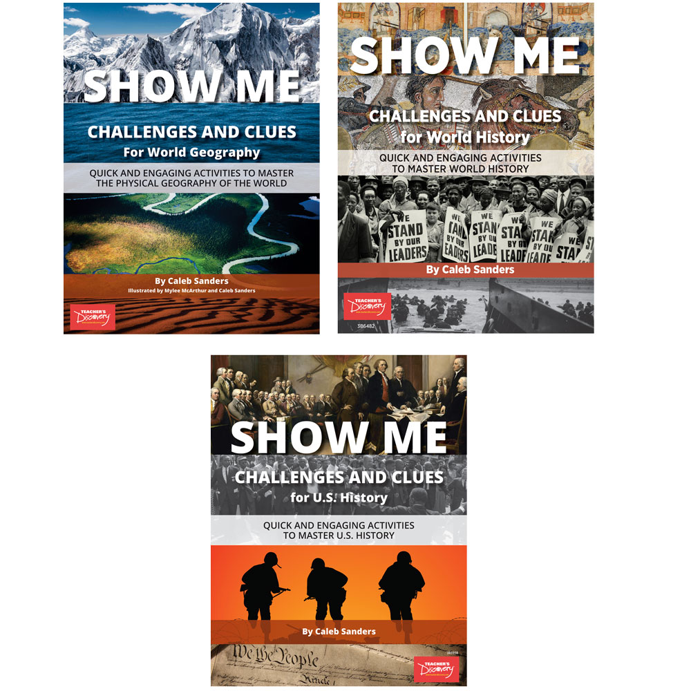 SHOW ME Challenges and Clues Set of 3 Books