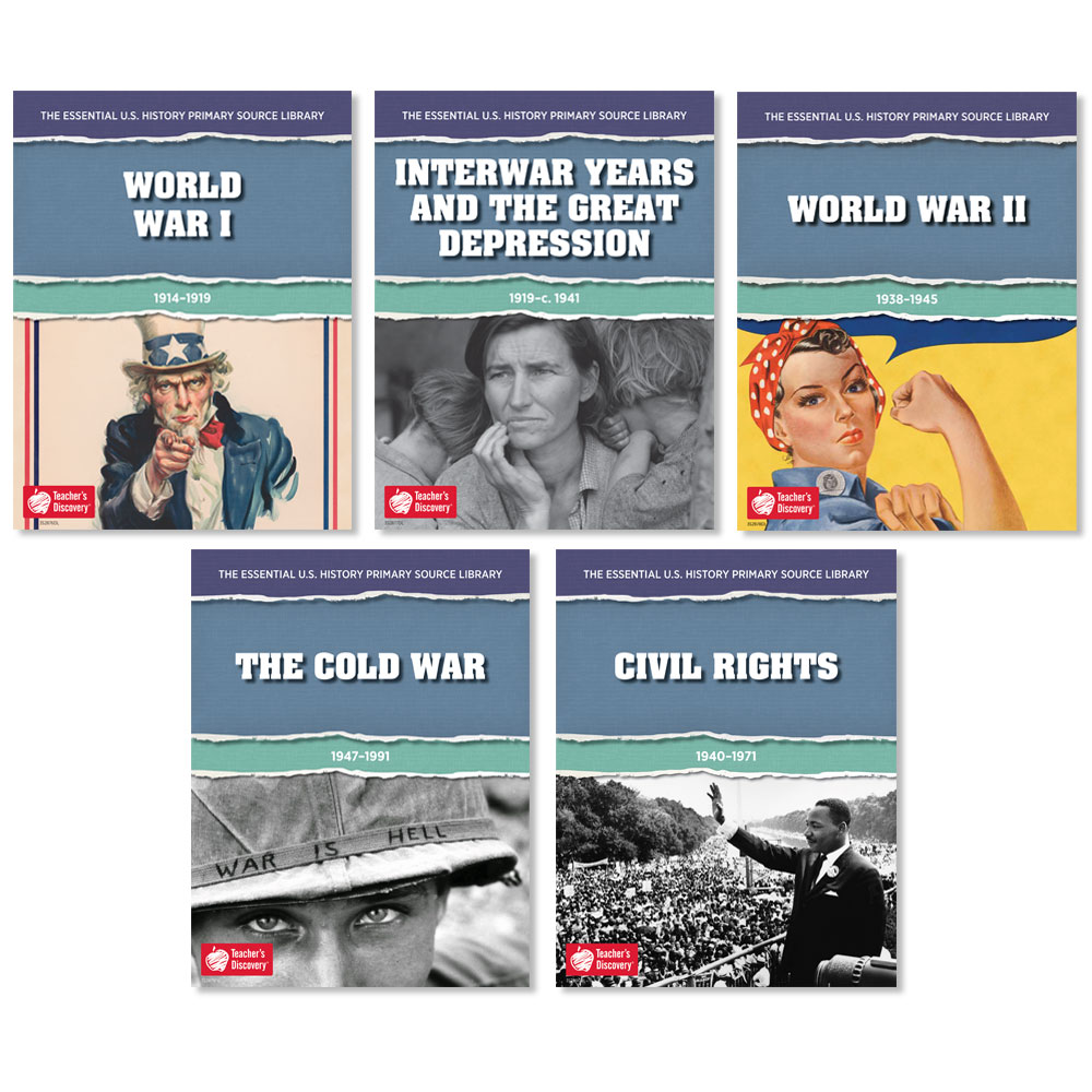 The Essential U.S. History Primary Source Library: World War I Through Civil Rights Set of 5 Downloads