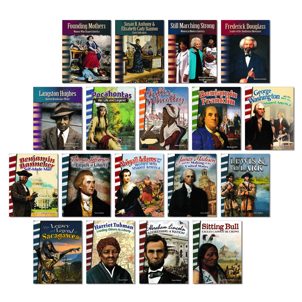 American History Biography Readers - Set of 18