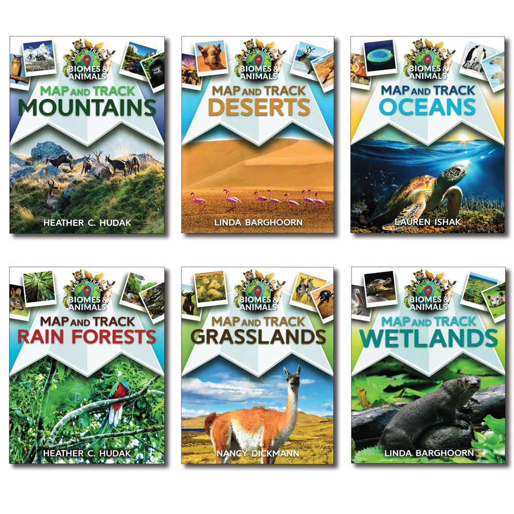 Map and Track Books - Set of 6