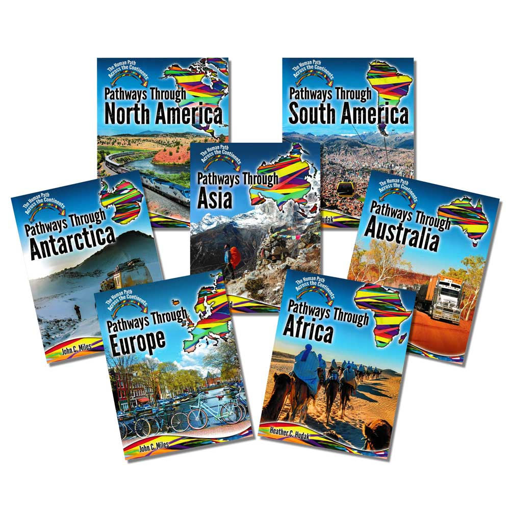 The Human Path Across the Continents Books - Set of 7