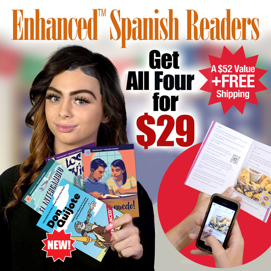Enhanced™ Spanish Level 1–2 Reader Sampler Pack of 4