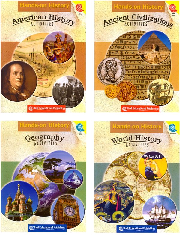 Hands-On History Activities - Set of 4 Books - Hands-On History Activities - Set of 4 Print Books