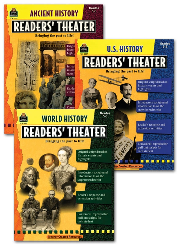 Readers' Theater Activity Books Set of 3