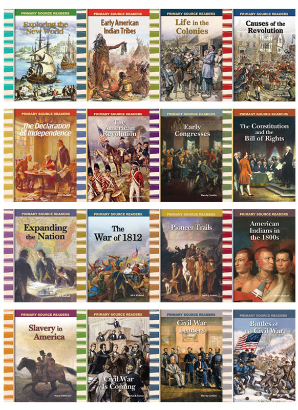 American History Primary Source Readers ~ Set of 16