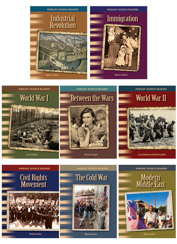 20th Century History Primary Source Readers - Set of 8