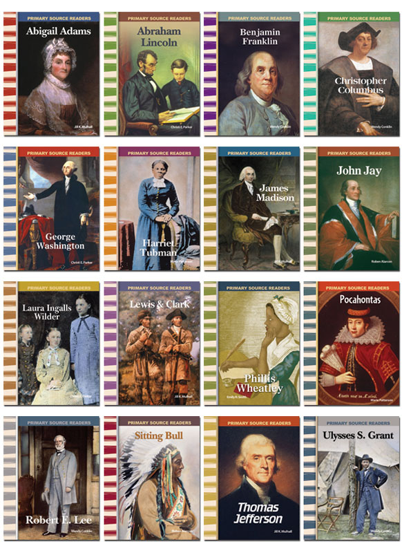 American History Biographies Primary Source Readers - Set of 16