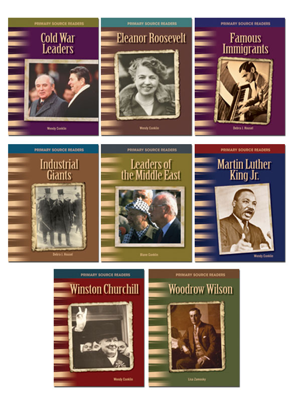 20th Century Biographies Primary Source Readers ~ Set of 8
