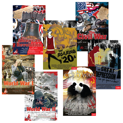 American History Movie Posters Set of 7