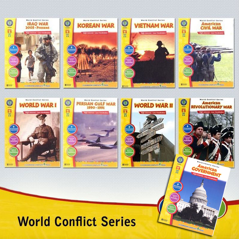 World Conflict Series Activity Books Set of 9 Books