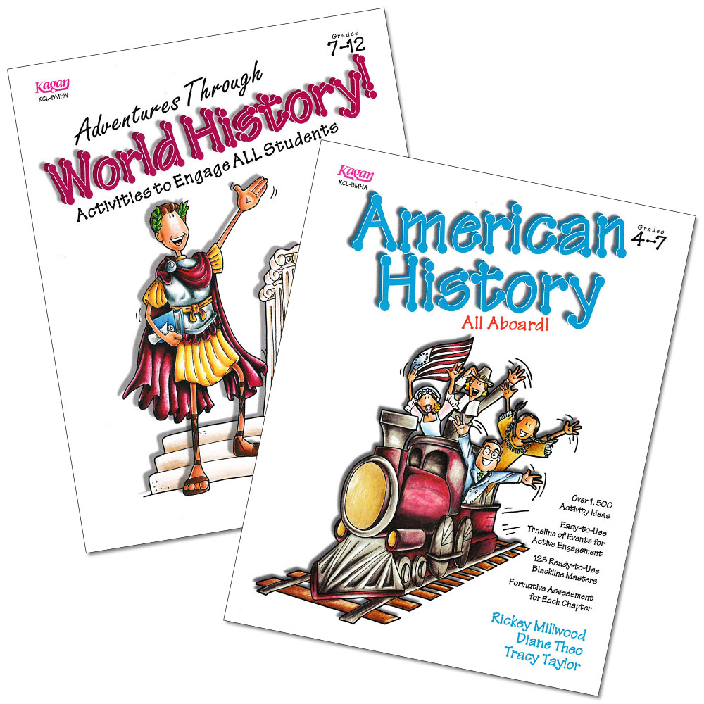 American History All Aboard and Adventures Through World History 2-Book Set