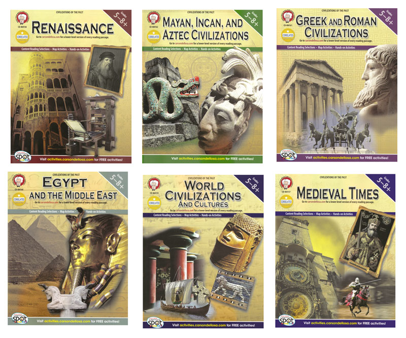 Civilizations Of The Past Activity Book Series